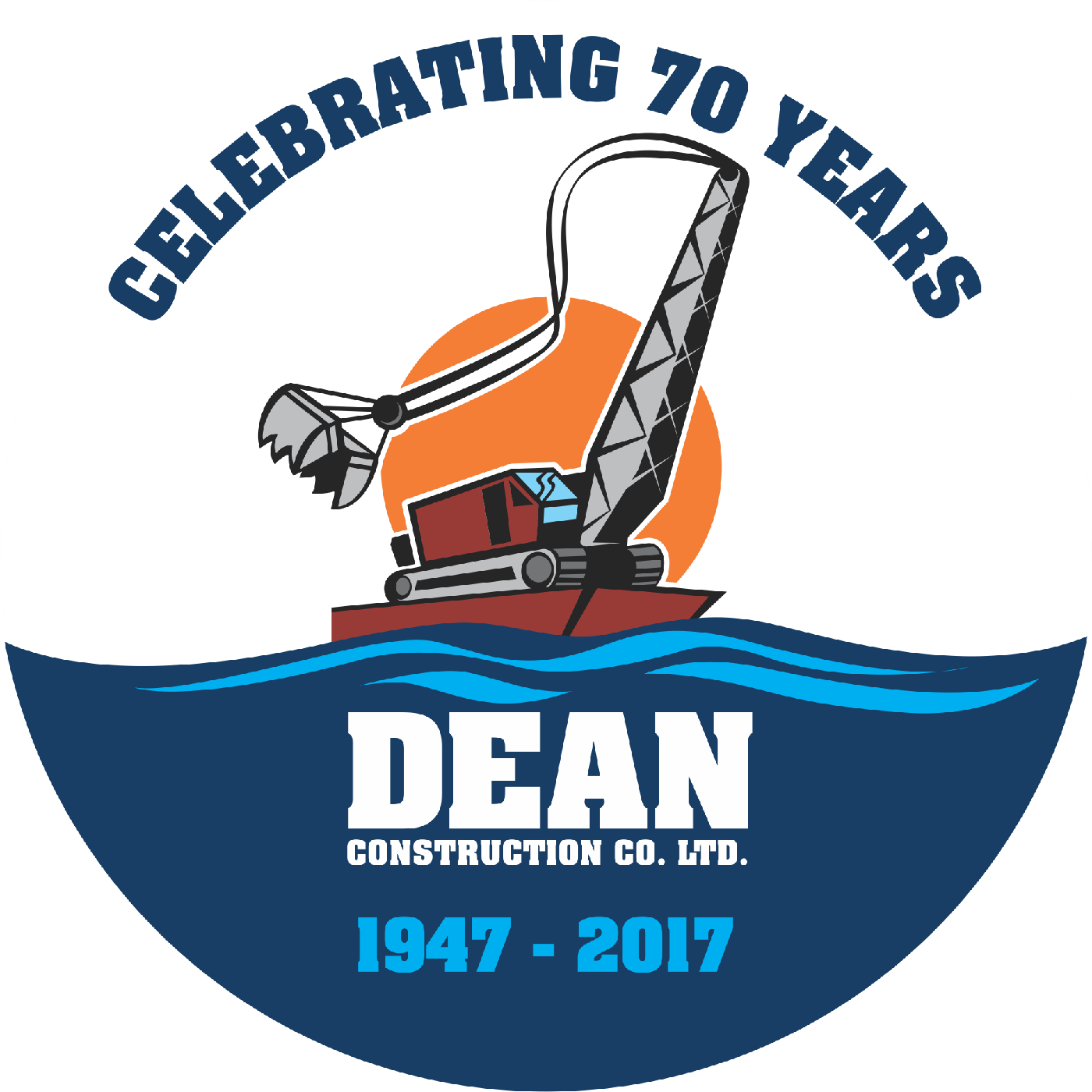 Dean Construction Company 70 Year Logo