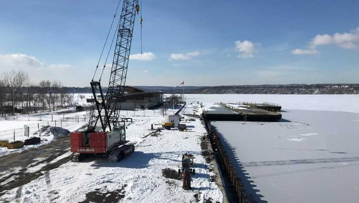 Hamilton Pier 8 Construction