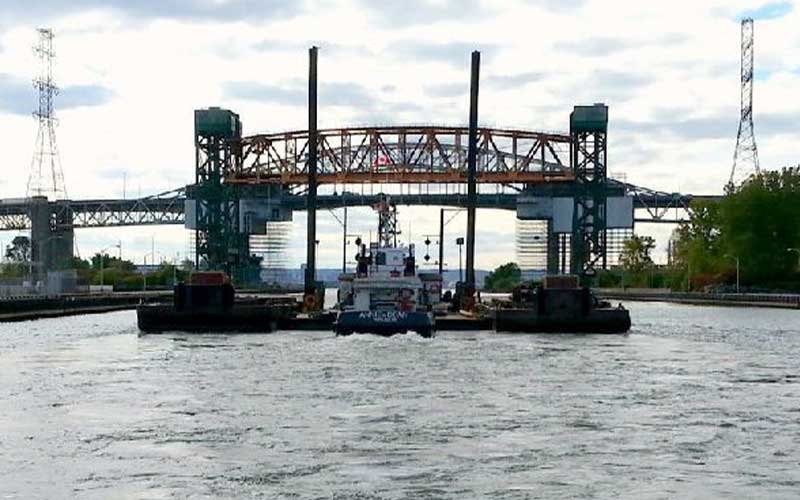 tug barge bridge